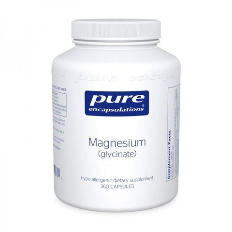 Magnesium Glycinate (90, 180, 360 caps) Free Shipping