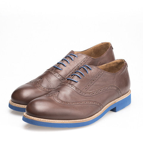 Zapatos Oxford de Piel Marrón Chocolate Giovanni