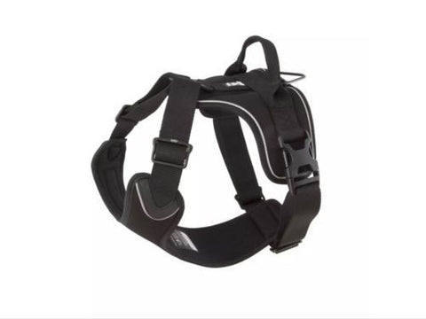 Hurtta Padded Outdoor Active Dog Harness 40 - 45 Cm Raven Black Colour, Harnesses - Millie and Masons Pet Shop