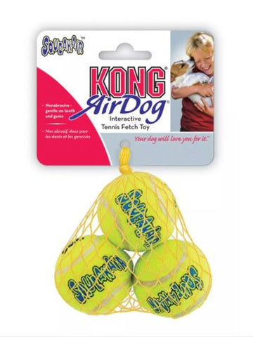 SMALL TOY BREED PUPPY EXTRA SMALL KONG SQUEAK AIR TENNIS BALLS 3 PACK NEW, Toys - Millie and Masons Pet Shop