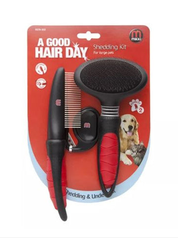 Mikki Shedding Kit Slicker Brush, Comb, Matt Splitter, Large Dog  Shedding, Brushes, Combs & Rakes - Millie and Masons Pet Shop