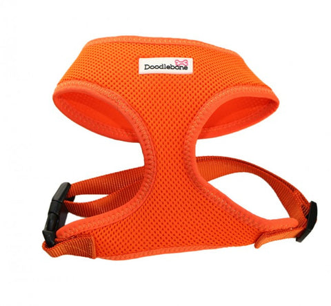 Doodlebone mesh harness orange from Millie and Mason's pet shop wakefield