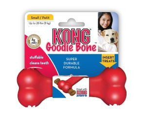 Kong red rubber Goodie bone, from Millie and Mason's pet shop, Horbury, Wakefield.