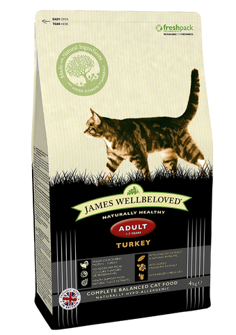 James Wellbeloved Adult Cat food turkey and rice from Millie and Mason's pet shop, horbury, wakefield.