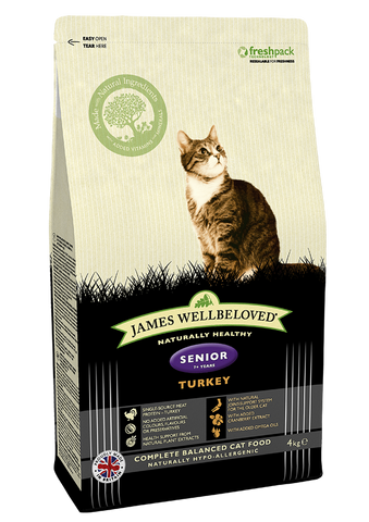 James Wellbeloved senior cat food turkey and rice, from Millie and Mason's pet shop, Horbury, Wakefield.