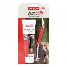 Beaphar Dog Toothbrush And Toothpaste