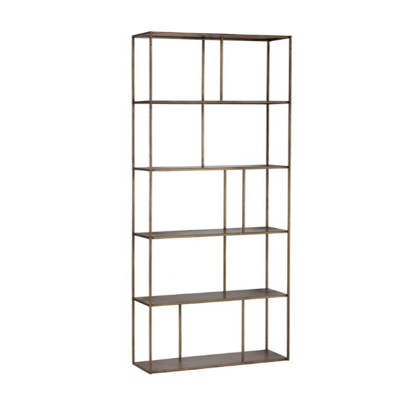 EIFFEL BOOKCASE - ANTIQUE BRASS - LARGE