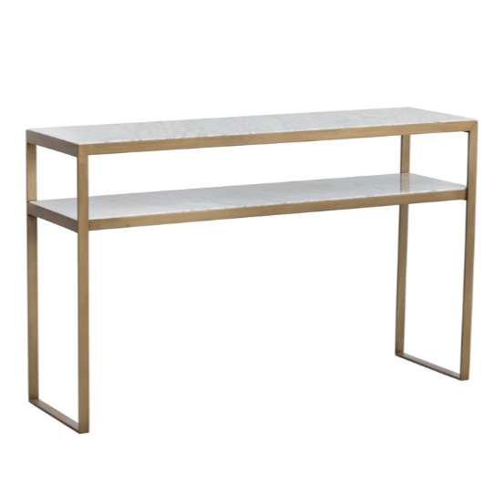 EVERT CONSOLE TABLE - WHITE