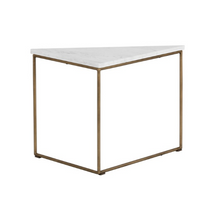 Load image into Gallery viewer, TRIBUTE END TABLE - BROWN MARBLE