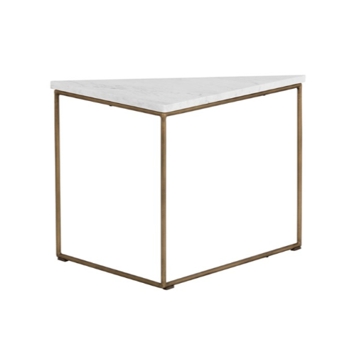 TRIBUTE END TABLE - BROWN MARBLE