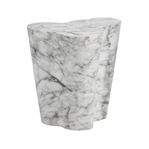 AVA END TABLE - LARGE - MARBLE LOOK