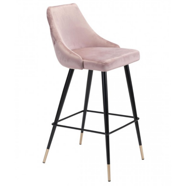 PICCOLO BAR CHAIR BROWN VELVET