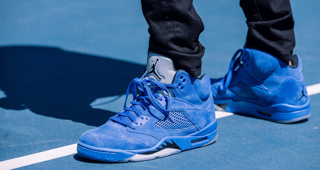 AIR JORDAN 5 RETRO ' BLUE SUEDE'