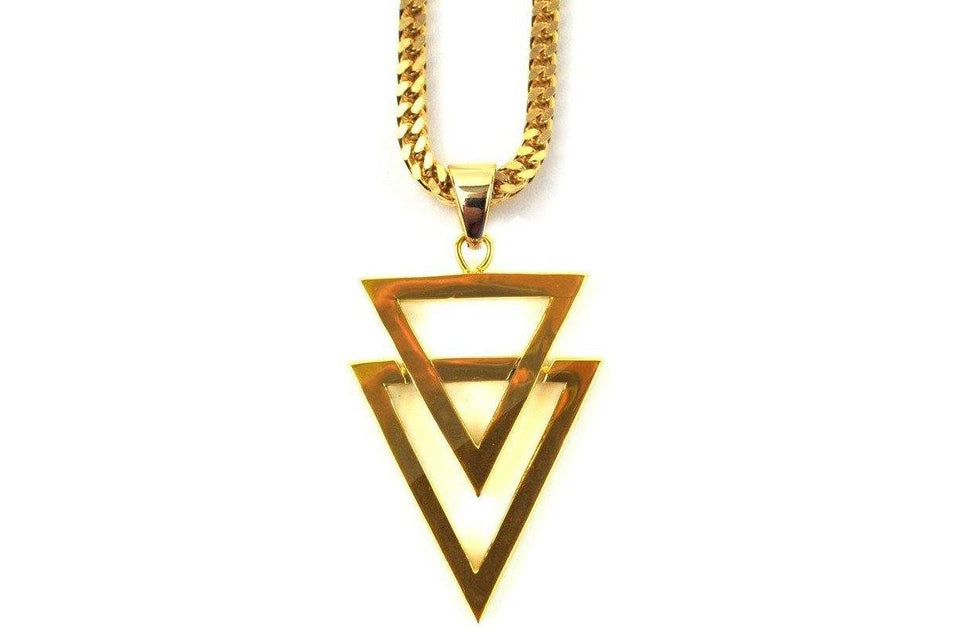 "22"" DUAL ARROW PIECE NECKLACE - GDARROW22RC JEWELRY THE GOLD GODS"
