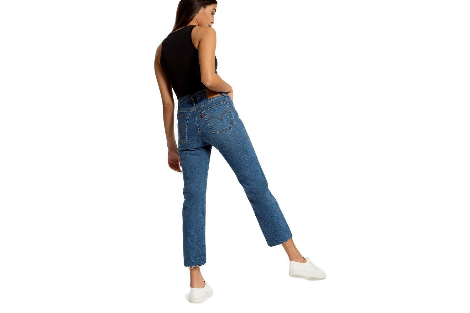 WEDGIE STRAIGHT LOVE TRIANGLE WOMENS SOFTGOODS LEVIS BLUE 27