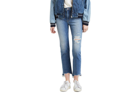 724- HIRISE STRAIGHT CROP INDIGO WOMENS SOFTGOODS LEVIS