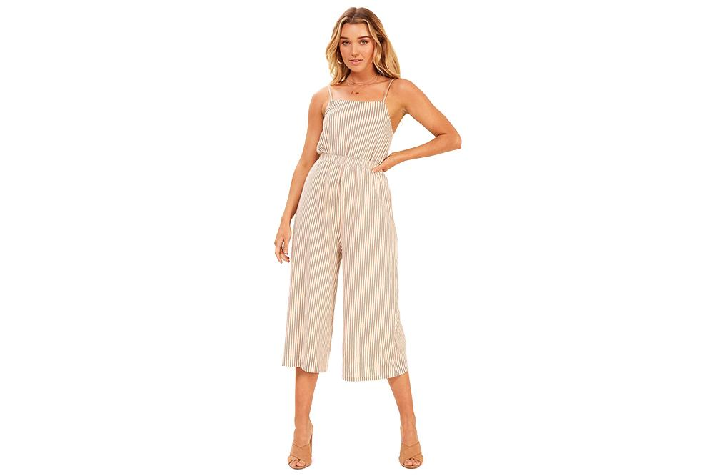 STRIPED KNIT JUMPSUIT WOMENS SOFTGOODS MINK PINK