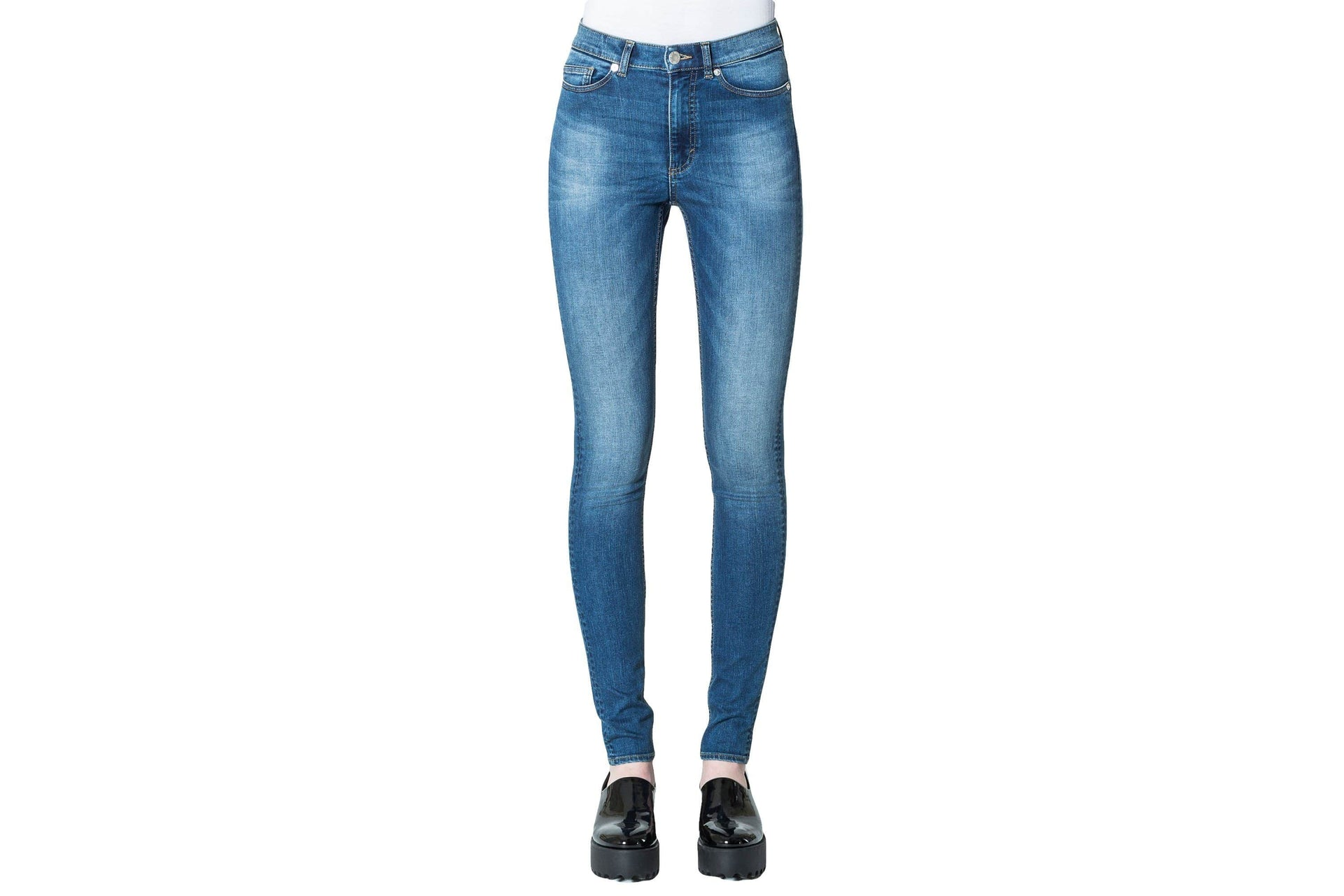 HIGH SNAP PANT WOMENS SOFTGOODS CHEAP MONDAY POP BLUE 25