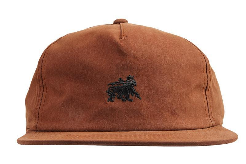 WAX COTTON STRAPBACK CAP HATS STUSSY RUST ONE SIZE