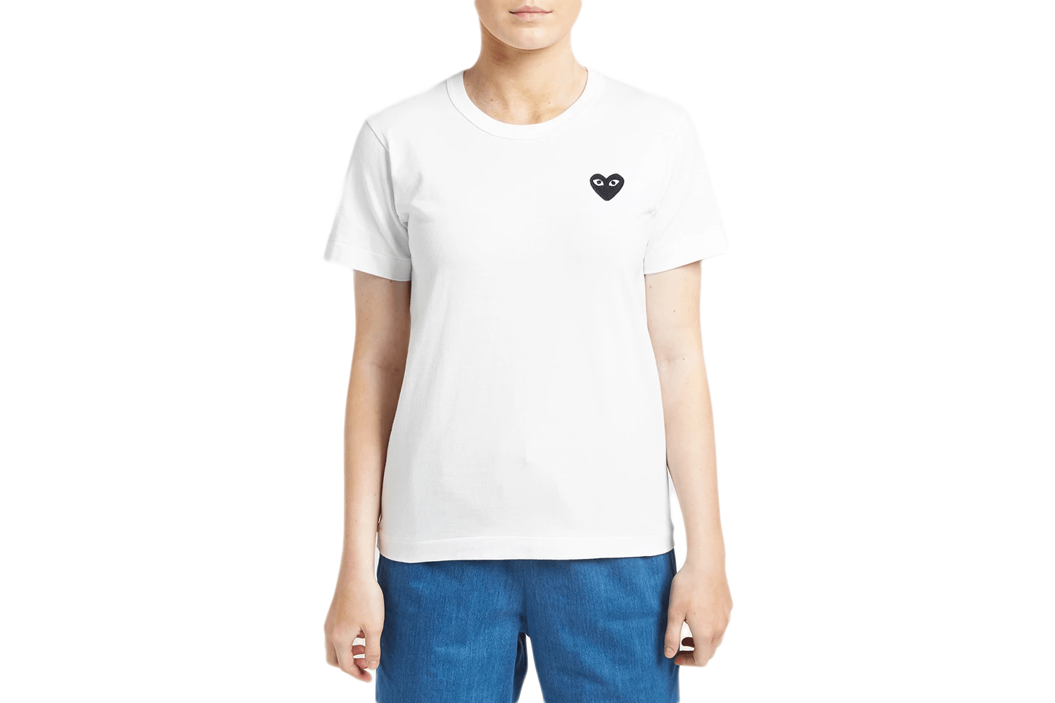 SMALL BLACK HEART TEE WOMENS SOFTGOODS COMME DES GARCONS