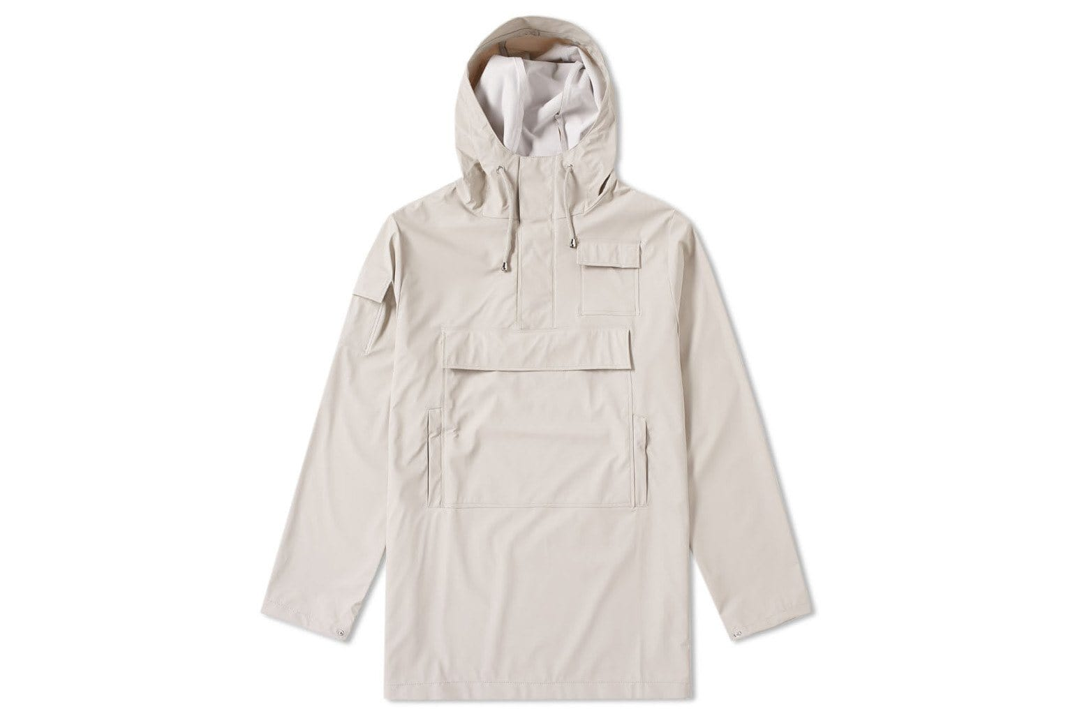 Rains pullover jacket with pockets in the color moon.