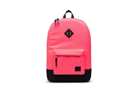 Herschel Heritage backpack in neon pink and black
