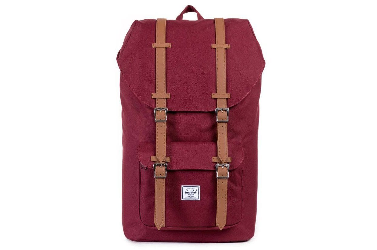 LITTLE AMERICA 600D POLY BAGS HERSCHEL WINDSOR WINE TAN ONE SIZE