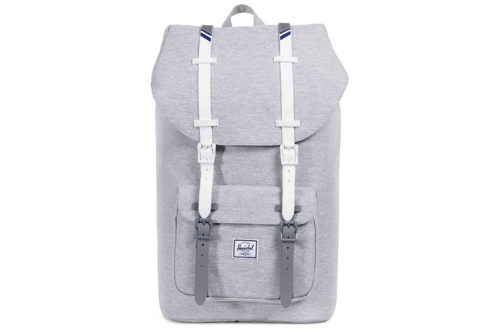 LITTLE AMERICA 600D POLY BAGS HERSCHEL LT GREY / WHT ONE SIZE