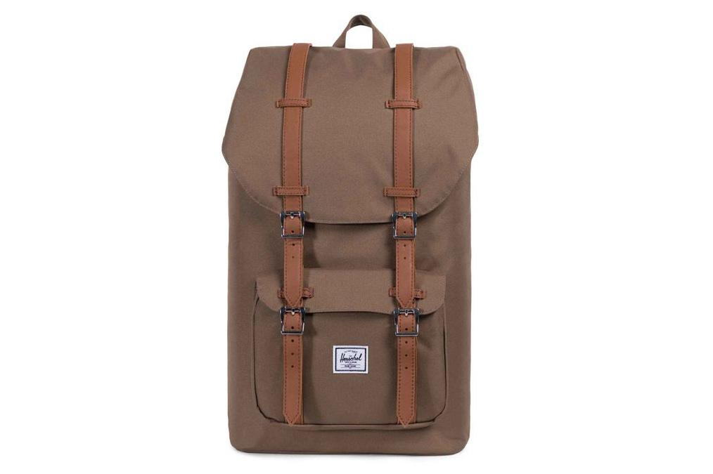 LITTLE AMERICA 600D POLY BAGS HERSCHEL CUB/TAN ONE SIZE