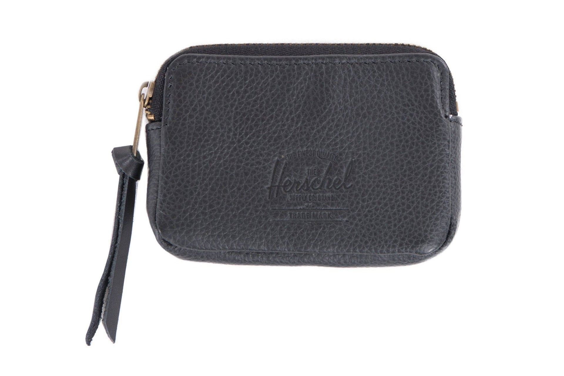 OXFORD POUCH LEATHER ACCESSORIES HERSCHEL BLACK PEBBLE ONE SIZE
