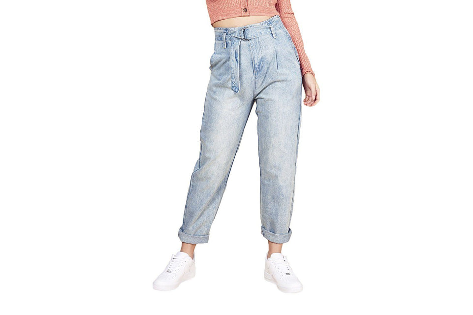 THIS IS IT WAIST JEAN - ID19F1935 WOMENS SOFTGOODS MINK PINK