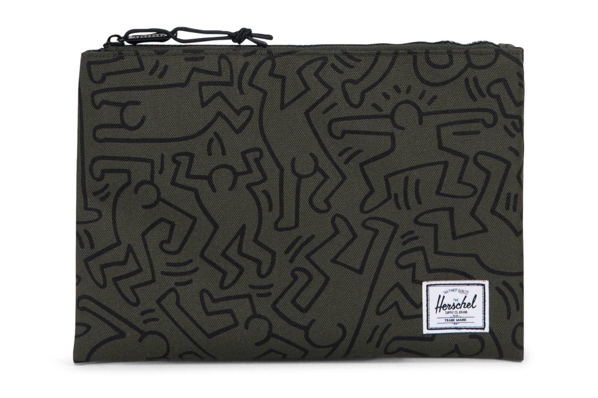 NETWORK L 600D POLY POUCH ACCESSORIES HERSCHEL FOREST NIGHT KEITH HARING L