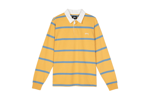 HILL STRIPE LS RUGBY-1140209 MENS SOFTGOODS STUSSY