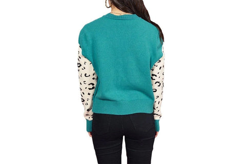SNOW LEOPARD KNIT JUMPER - IM19F1822