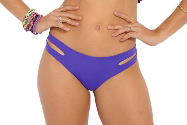 ESTELLA BIKINI BOTTOM WOMENS SOFTGOODS LSPACE PURPLE XS