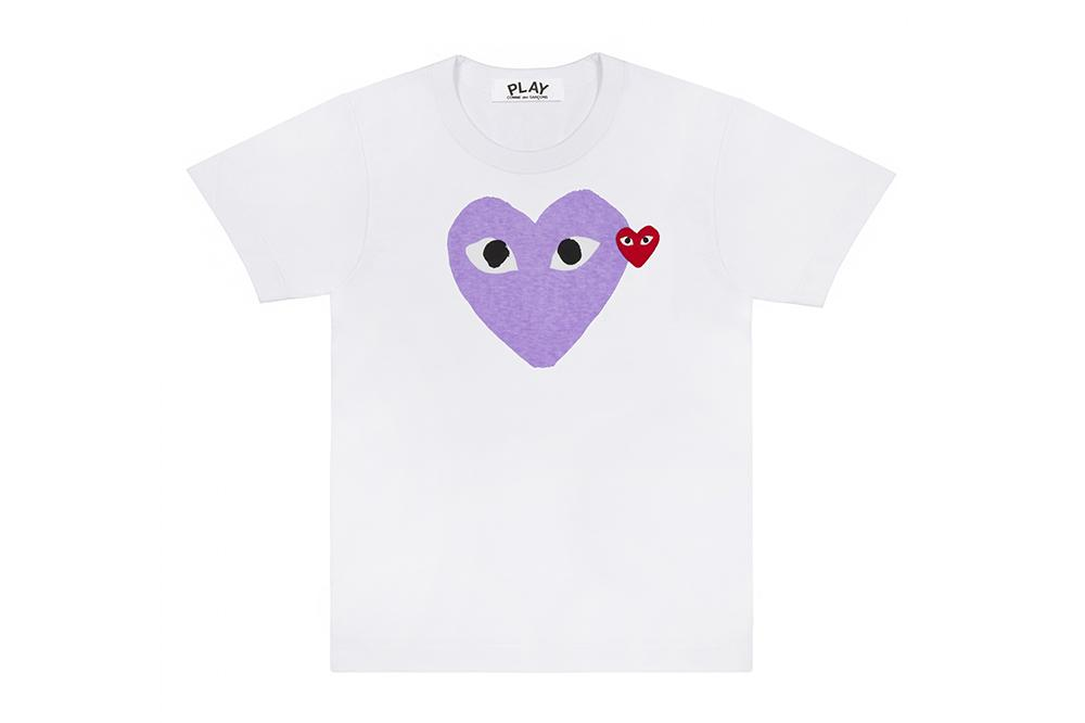 BIG PURPLE HEART - AZT106 MENS SOFTGOODS COMME DES GARCONS