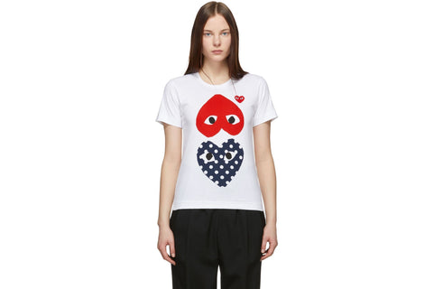 BIG RED UPSIDE DOWN/LITTLE RED HEART/BIG POLKA DOT HEART - AZT239
