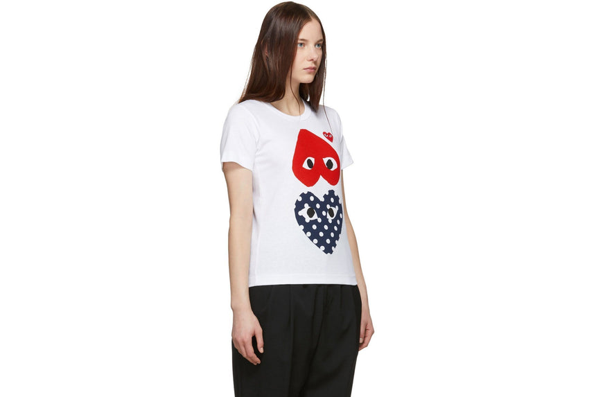 BIG RED UPSIDE DOWN/LITTLE RED HEART/BIG POLKA DOT HEART WOMENS SOFTGOODS COMME DES GARCONS