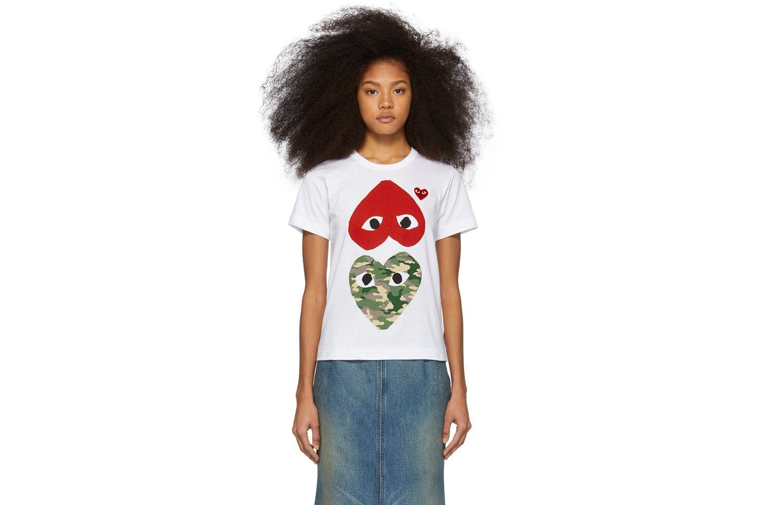 BIG RED UPSIDE DOWN/LITTLE RED HEART/BIG CAMO HEART WOMENS SOFTGOODS COMME DES GARCONS