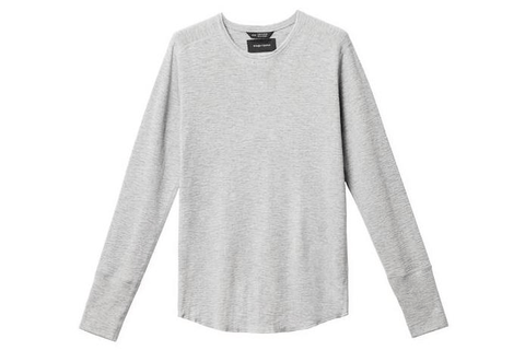 1X1 SLUB RIB L/S CREWNECK MENS SOFTGOODS WINGS+HORNS H.GREY S