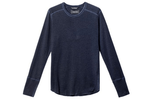 1X1 SLUB RIB L/S CREWNECK MENS SOFTGOODS WINGS+HORNS NAVY S