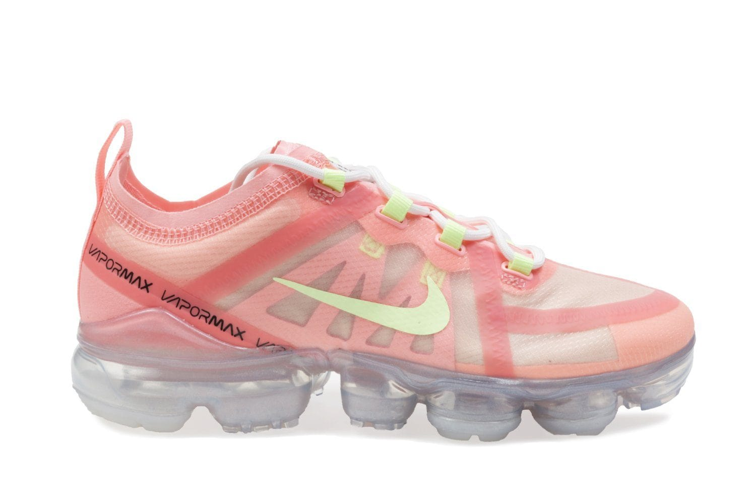 WMNS AIR VAPORMAX 2019 - AR6632-602 WOMENS FOOTWEAR NIKE 6 PINK TINT/BARELY VOLT-LIGHT CREAM