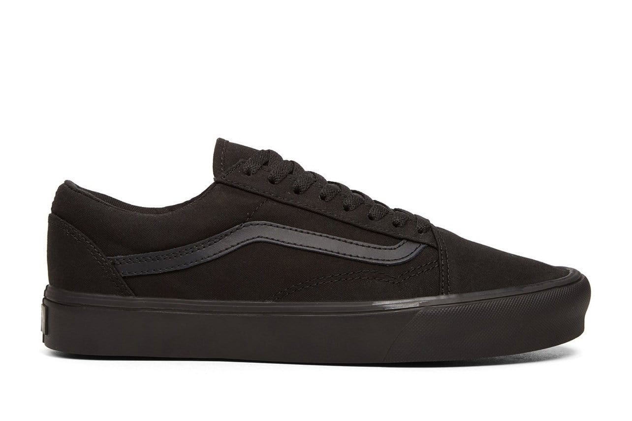 OLD SKOOL LITE MENS FOOTWEAR VANS (CANVAS) BLACK/BLACK 8