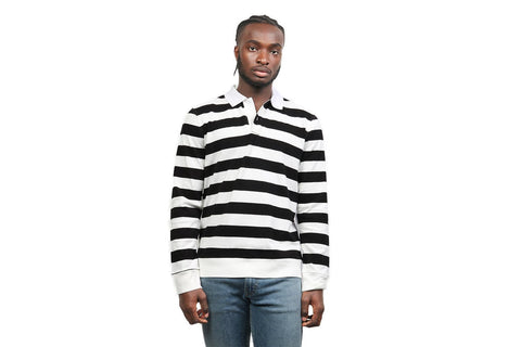 SANDERS STRIPE L/S TEE MENS SOFTGOODS SATURDAYS NYC WHITE L