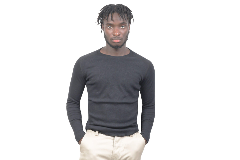 1X1 SLUB RIB L/S CREWNECK MENS SOFTGOODS WINGS+HORNS
