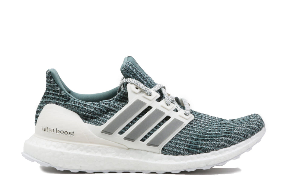 ULTRABOOST LTD-CM8272 MENS FOOTWEAR ADIDAS WHITE/GREY/TURQ 8