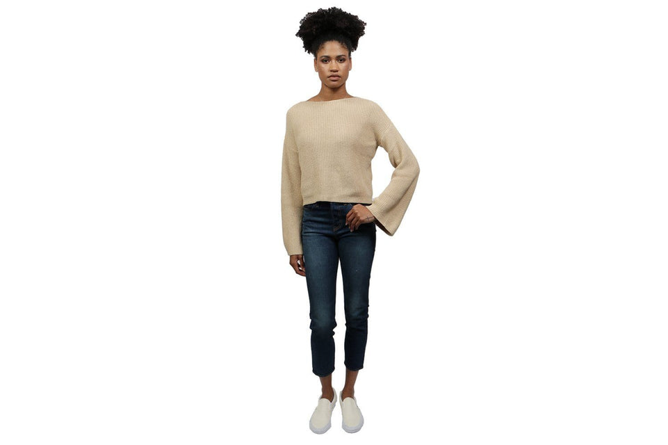KNITTED LONG SLEEVE SWEATER - 00810 WOMENS SOFTGOODS NAKD