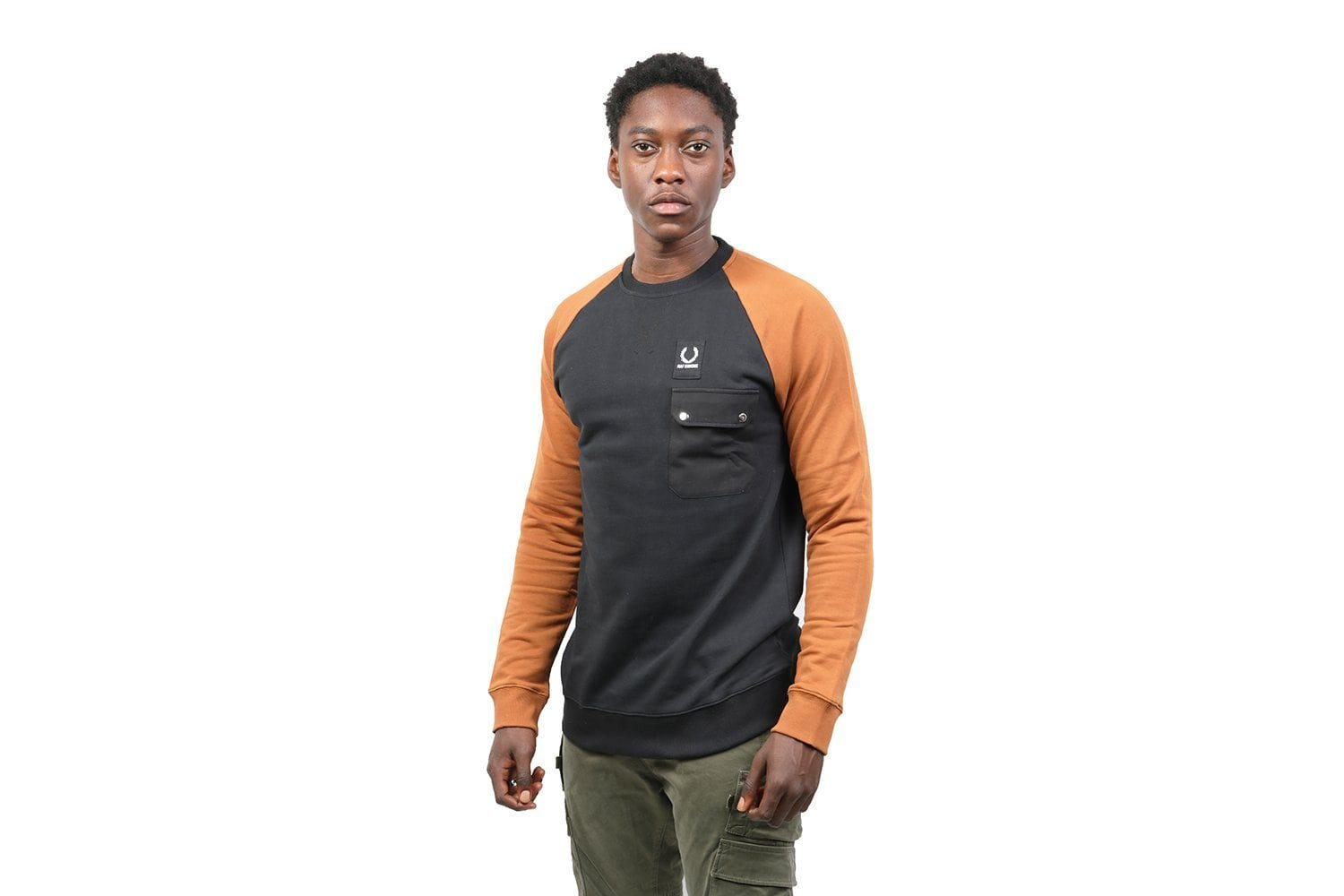 RAF SIMONS COLOURBLOCK SWEAT- SM4111 MENS SOFTGOODS FRED PERRY