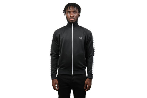 BLACK TAPED TRACK JACKET MENS FRED PERRY  NRML