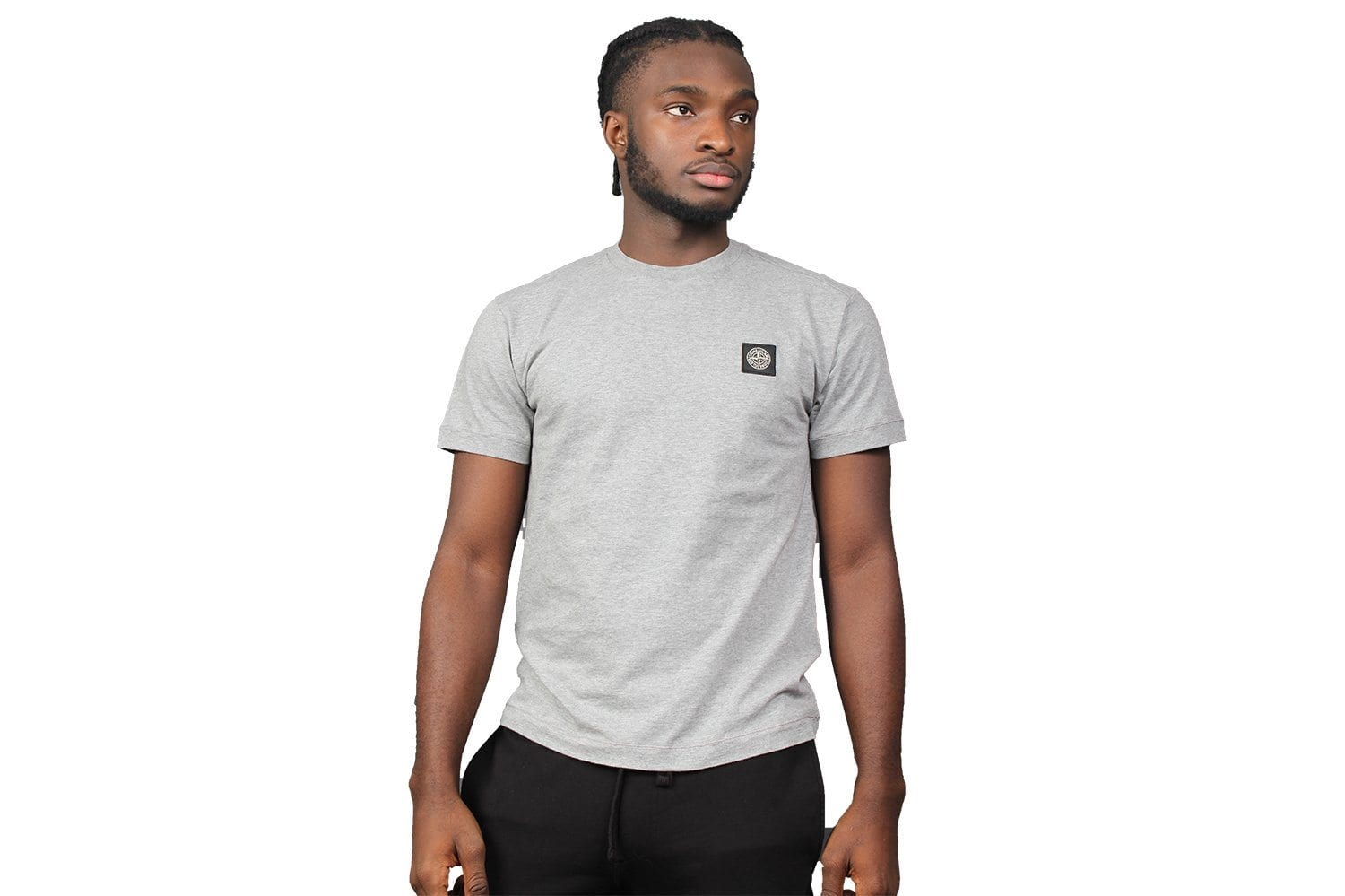 SMALL PATCH TEE MENS SOFTGOODS STONE ISLAND GREY M
